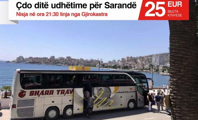 Linja e rregullt Prishtinë - Sarandë - Ksamil - Prishtinë